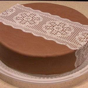 Съедобные кружева на торт